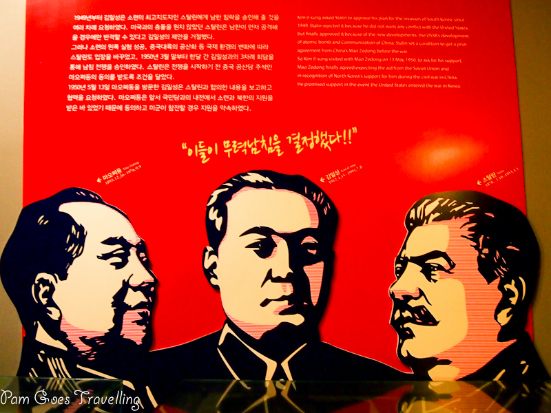 A walk down korean war history pam goes travelling 3 communist leaders mao kim and stalin thecheapjerseys Choice Image