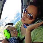 Seth's first helicopter ride and he slept through it