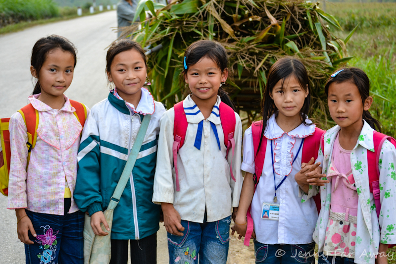 We met these girls on their way home from school in Northern Vietnam.