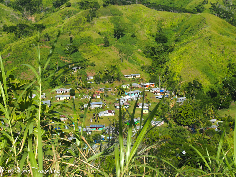 Beautiful lego-like houses at Nausori highlands