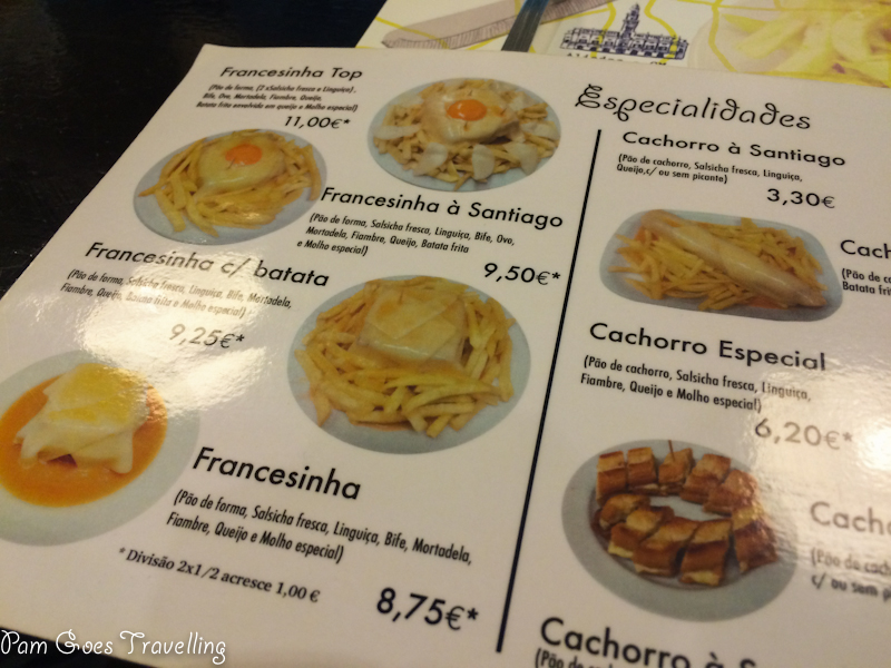 Menu in Portuguese. The pictures were enough for me to place my order.