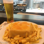 Eating Francesinha in Porto