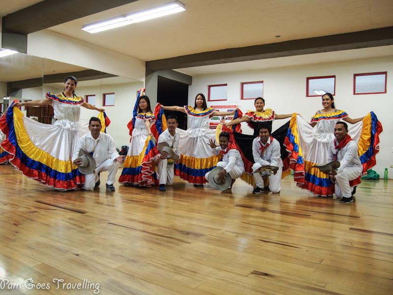 Transformed into Cumbia dancers